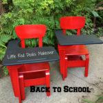 Little Red School Desk Makeover
