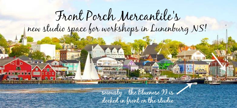 Our studio in Lunenburg is located right on the waterfront
