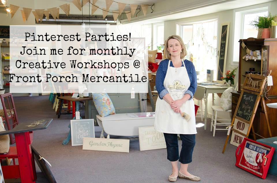 Pinterest Parties at Front Porch Mercantile