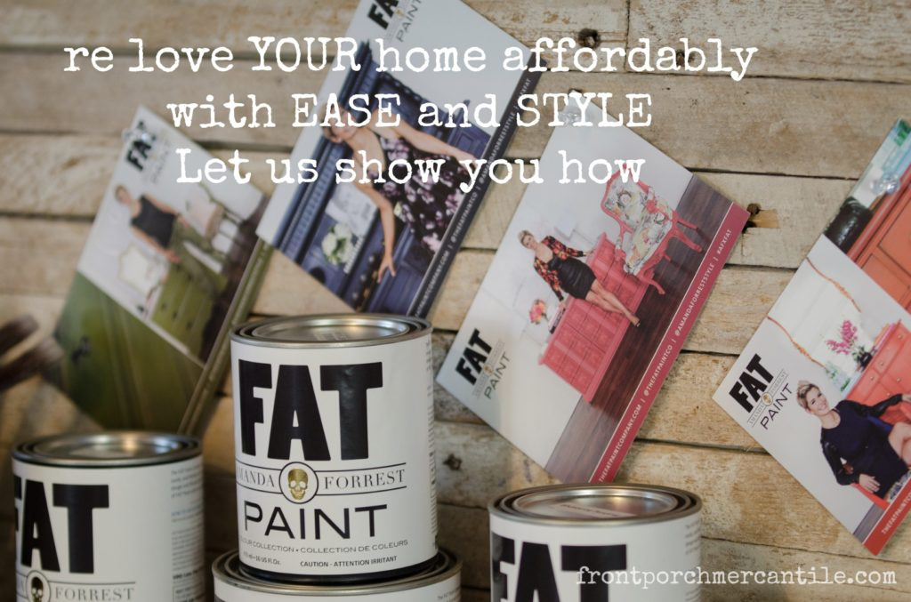 update your home affordably - lets make paint and decorate at Front Porch Mercantile