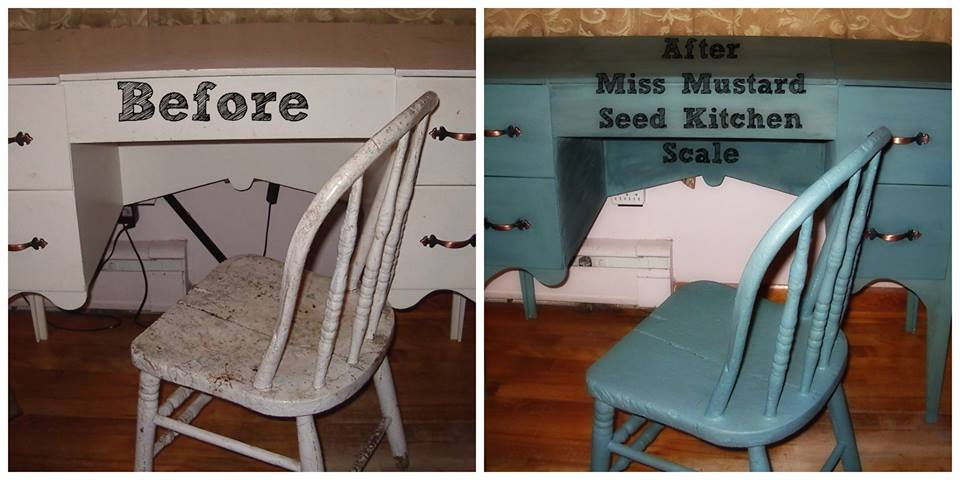 before and after by client Front Porch Mercantile