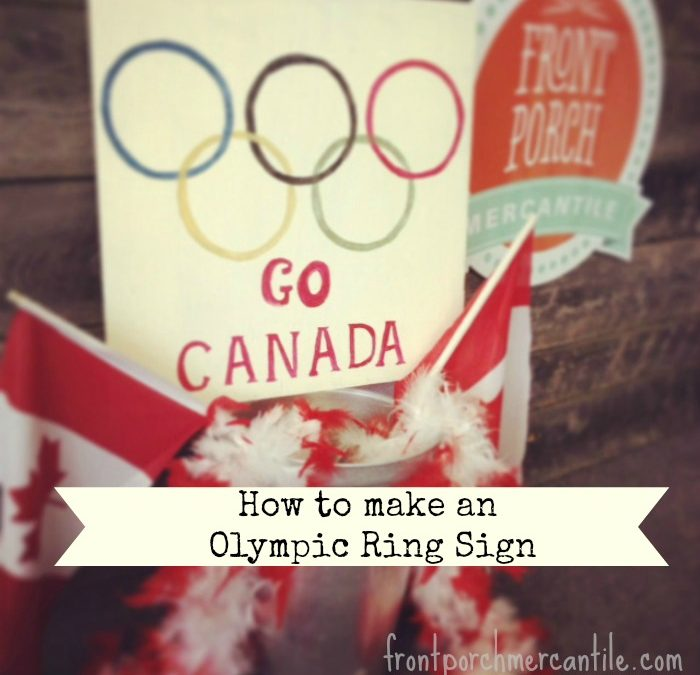 How to Paint an Olympic Ring Sign