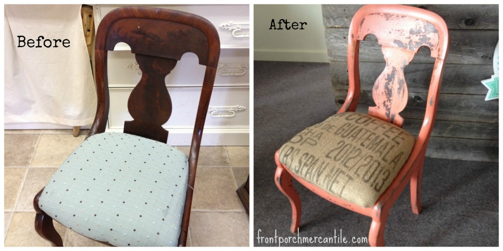 before/after chippy chair frontporchmercantile.com