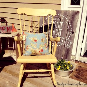 Updating a Wooden Rocking Chair With Colour