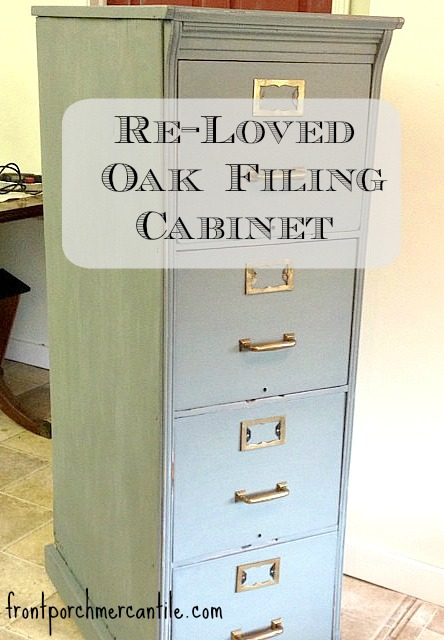 painted oak filing cabinet Front Porch Mercantile
