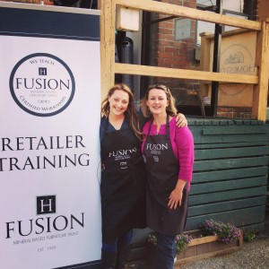 Fusion™ Mineral Paint creator Jennylyn Pringle with Wendy from Front Porch Mercantile