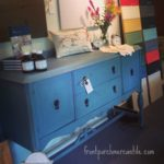 Updating a Ho Hum Buffet With Miss Mustard Seed's Milk Paint