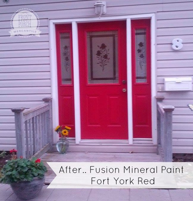 Fusion Mineral Painted Front Door How To