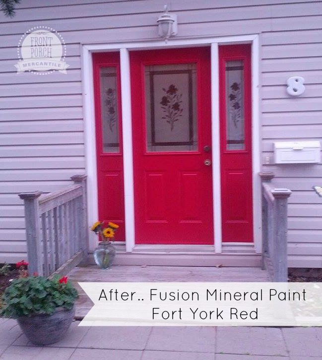 Fusion Mineral Painted door in Fort York Red - Front Porch Mercantile