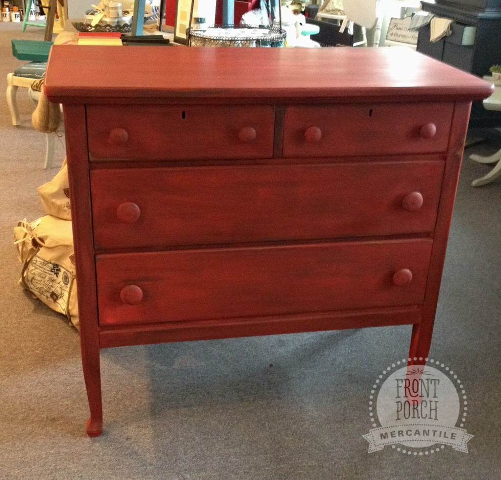 Tricycle painted dresser from Front Porch Mercantile