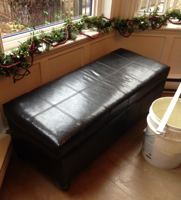 Leather bench before painting