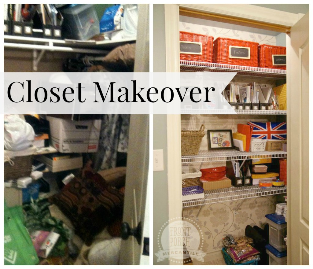 Closet Makeover from Front Porch Mercantile
