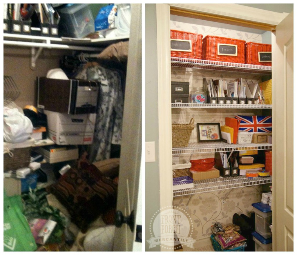 Closet before / after Front Porch Mercantile