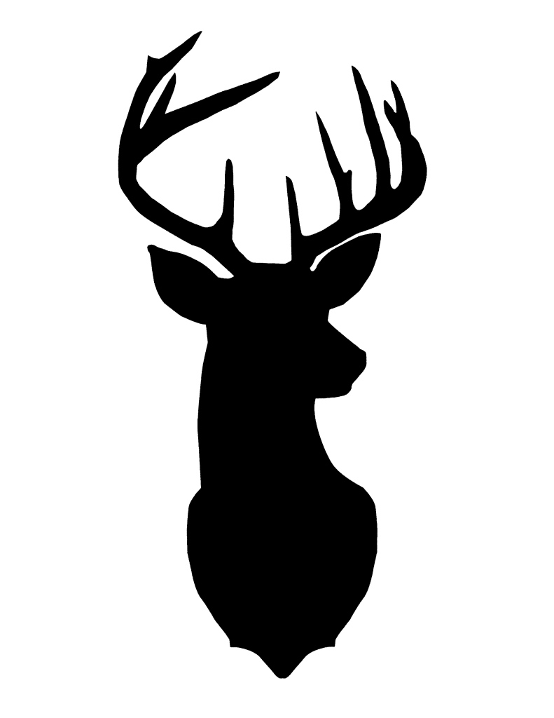 pics photos deer head silhouette template