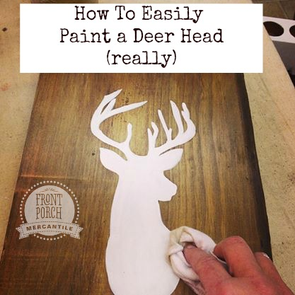 picture about Free Printable Deer Stencils named Deer Silhouette - how towards efficiently paint a deer brain silhouette