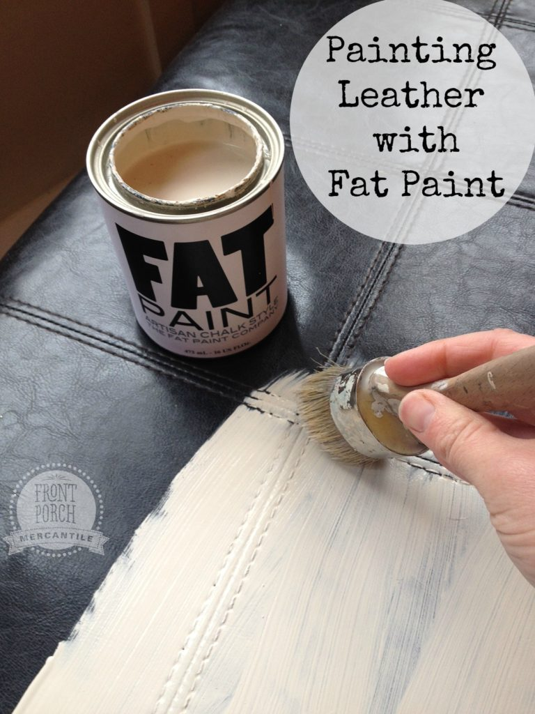 Painting Leather with Fat Paint