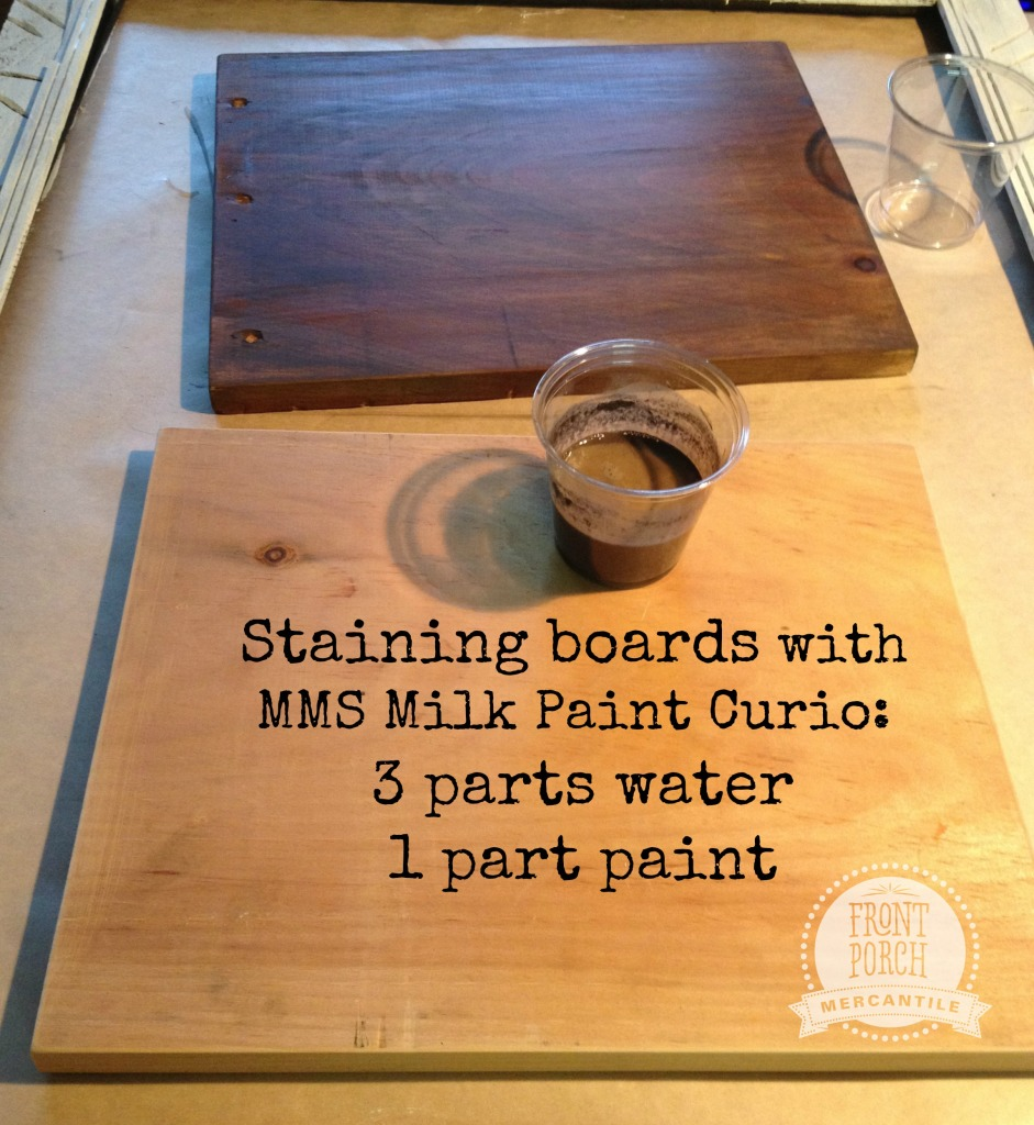 staining wood with Curio