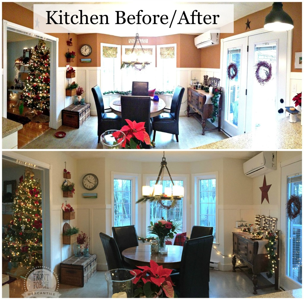 Before/After Kitchen refresh Front Porch Mercantile