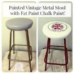 Fat Painted Vintage Stool