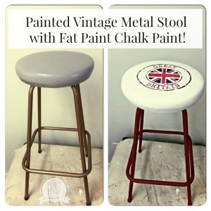 Fat Painted Vintage Stool