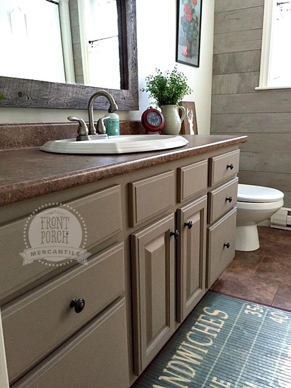 bathroom reno - cabinets Fusion Mineral Paint Algonquin - Front Porch Mercantile