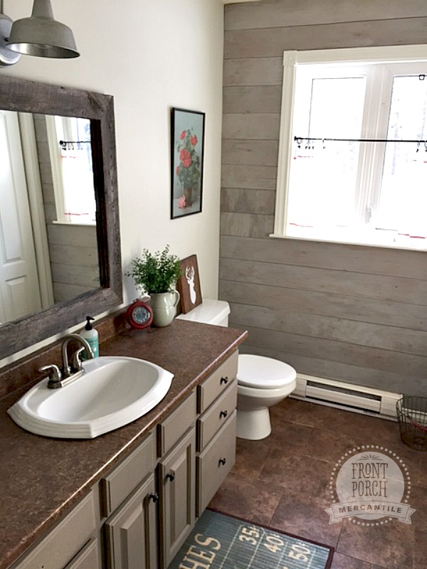 Plank Wall Bathroom Reno Front Porch Mercantile