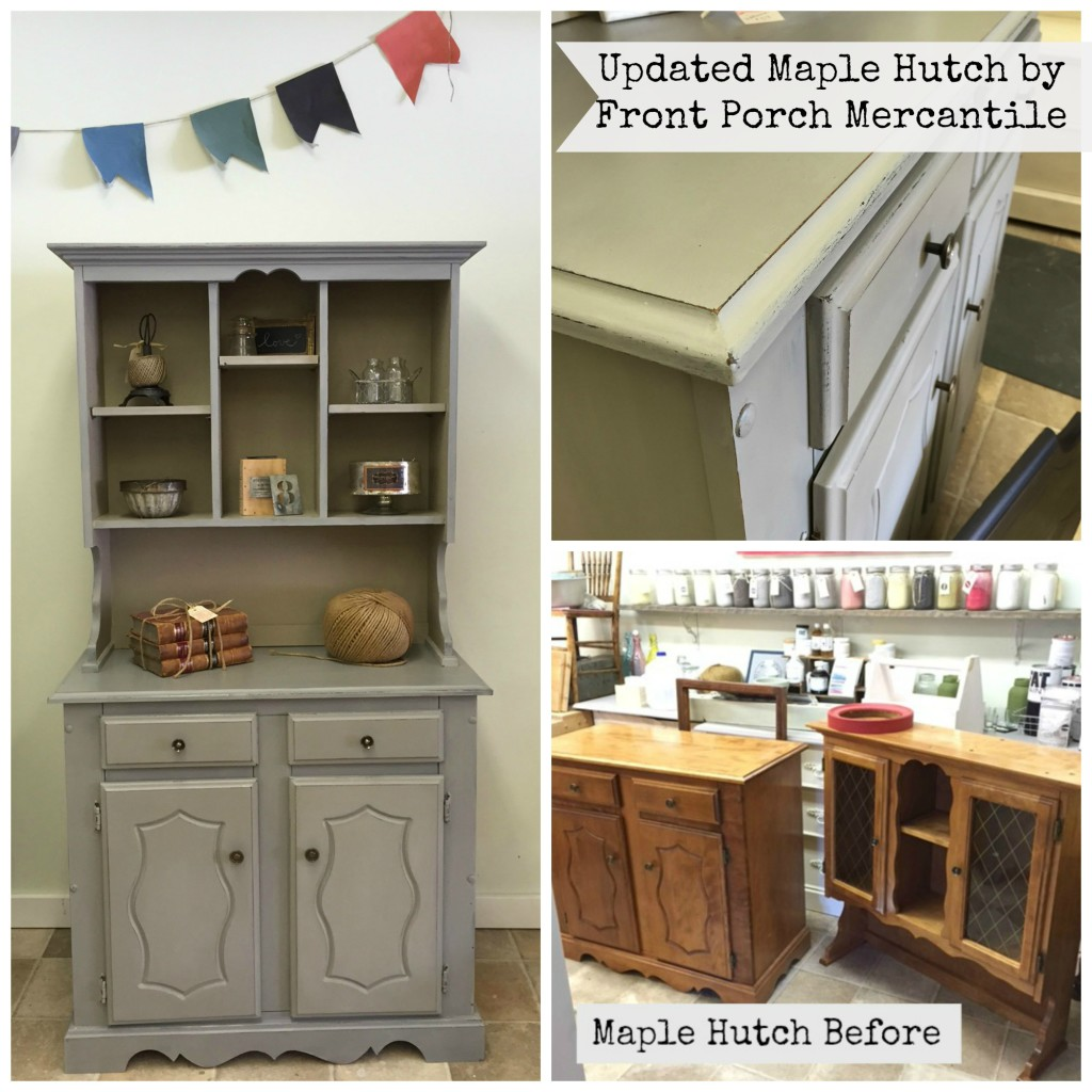 Maple Hutch updated with MMS Schloss Front Porch Mercantile