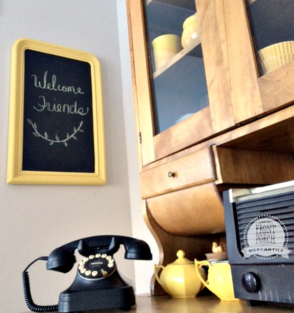 Chalkboard from old mirror Front Porch Mercantile