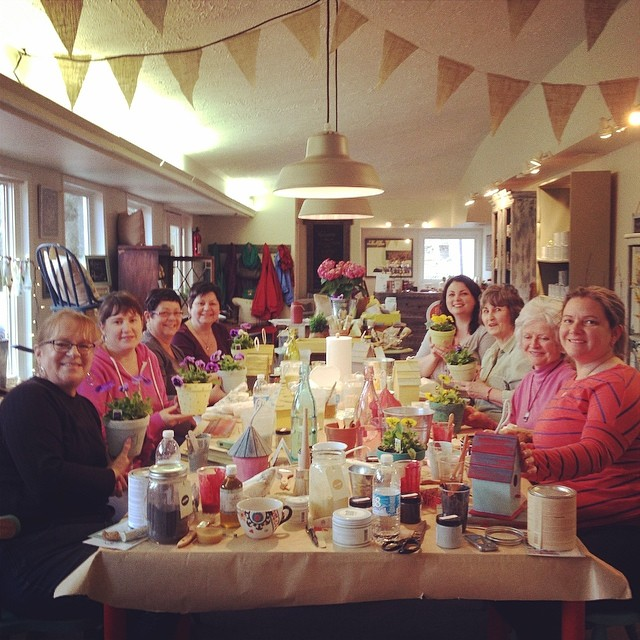 Front Porch Mercantile Mothers Day Workshop