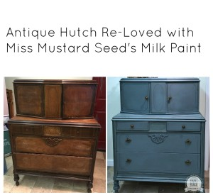 Antique Hutch Makeover