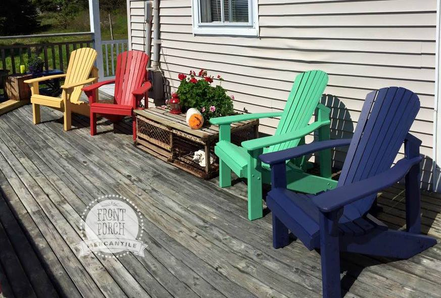 Fusion Painted Adirondack Chairs - Front Porch Mercnantile