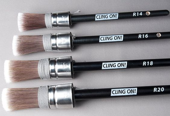 Cling on Round Brushes are amazing to work with