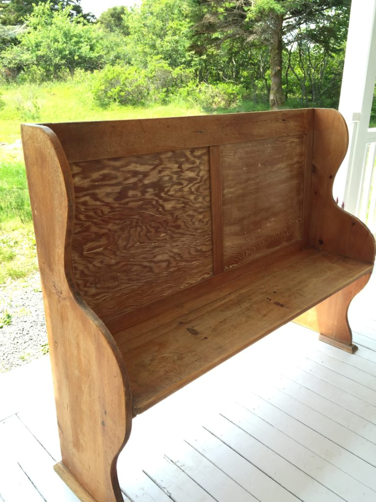 Pew before - Front Porch Mercantile