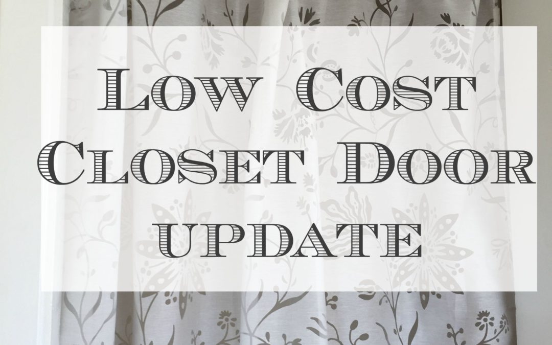 Easy Affordable Closet Door Solution