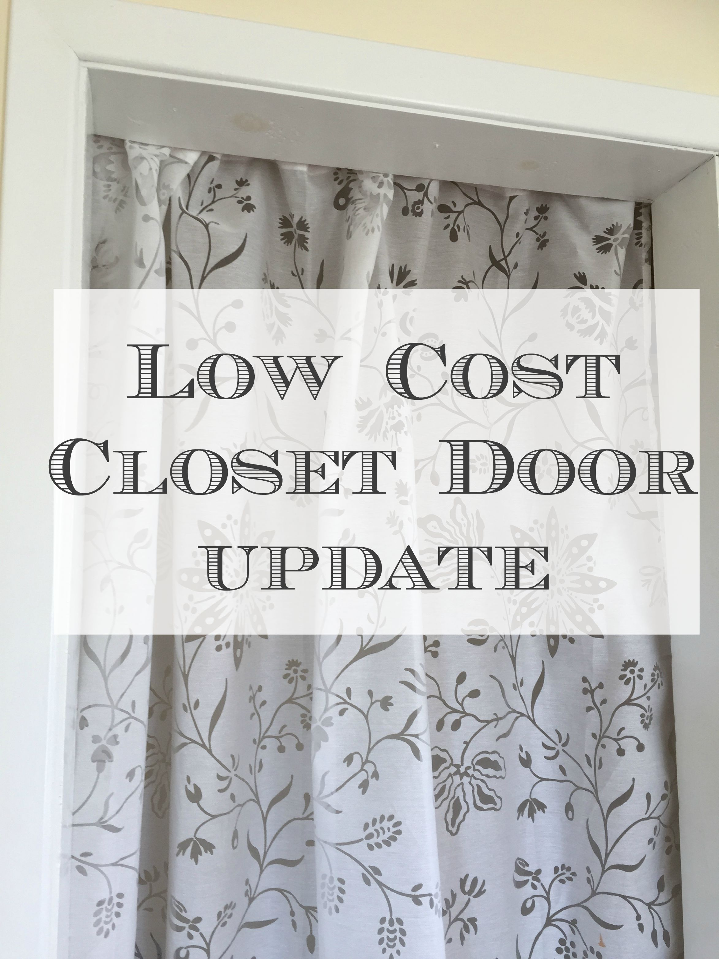 Easy Affordable Closet Door Solution Front Porch Mercantile