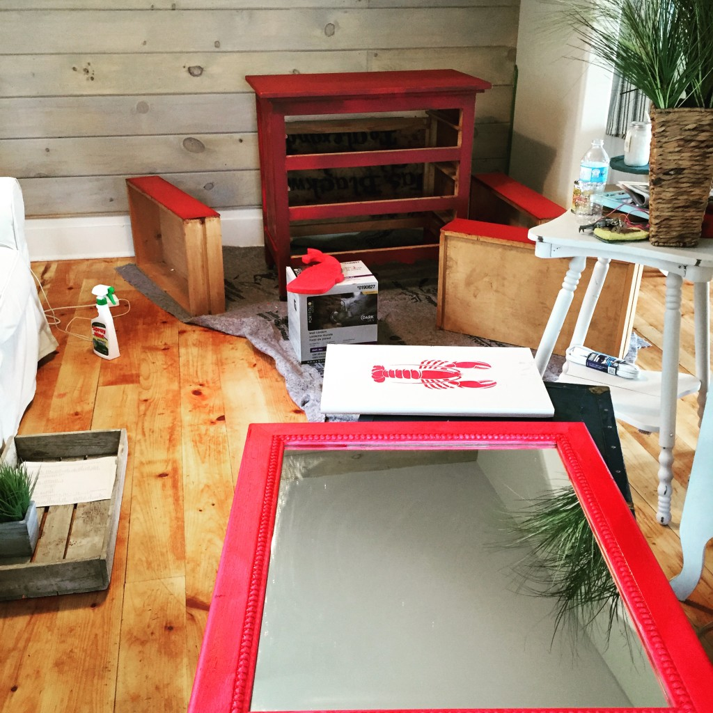 Paint all the things red - at Front Porch Mercantile