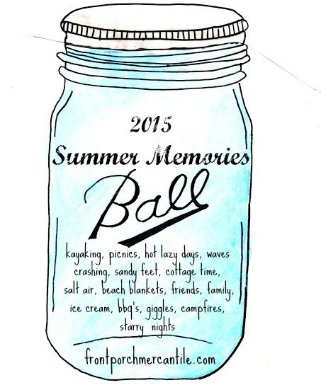 Mason Jar Summer Memories from Front porch Mercantile