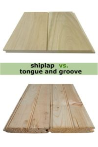Shiplap vs ongue and groove