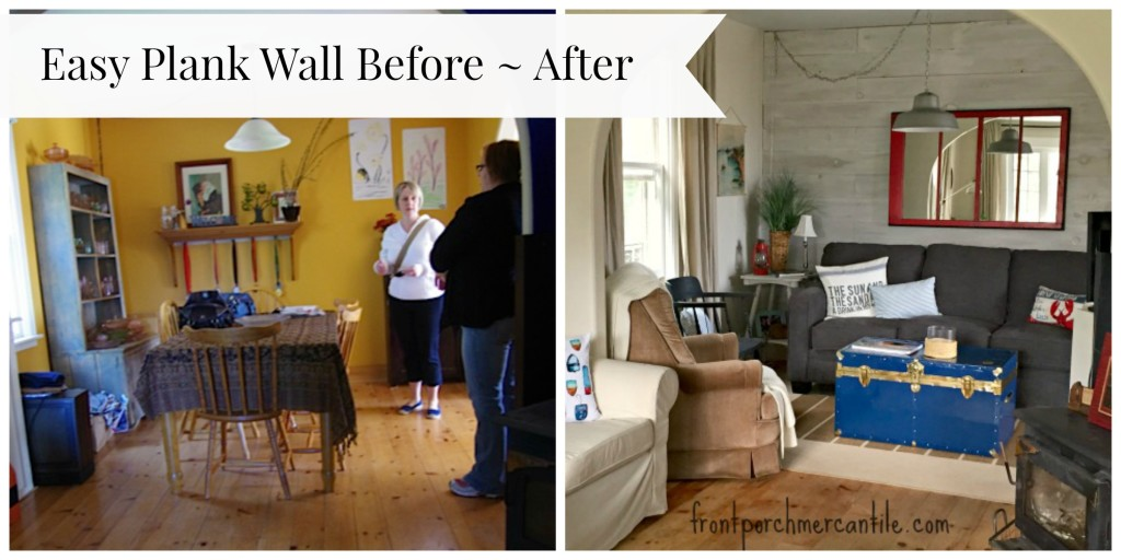 Plank Wall Before / After Front Porch Mercantile