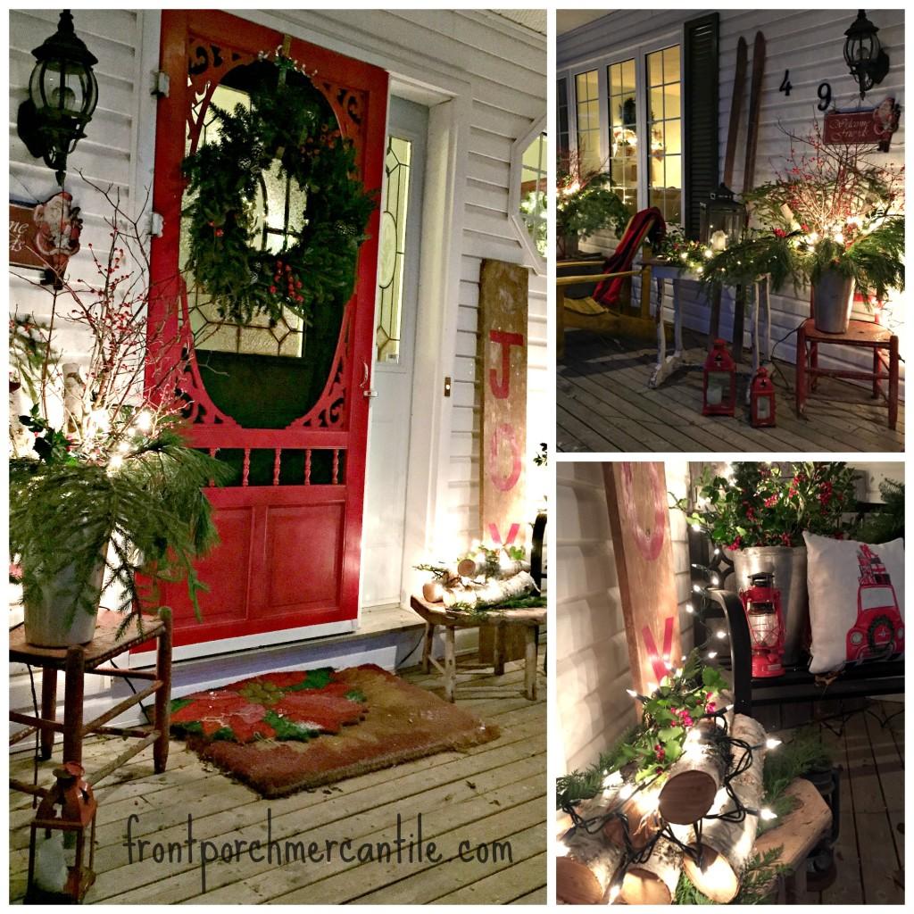 Christmas Porch at Front Porch Mercantile