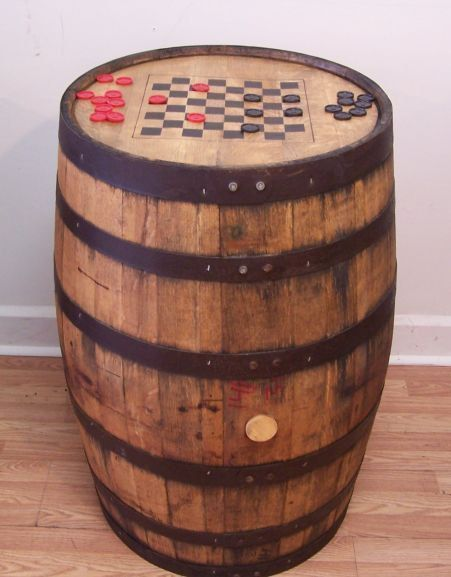 Barrel Game board for the porch