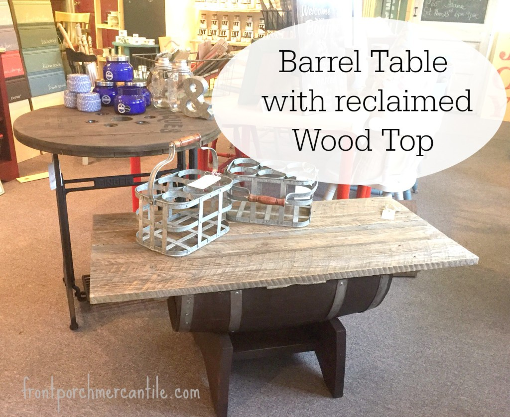 Barrel Tables from Front Porch Mercantile