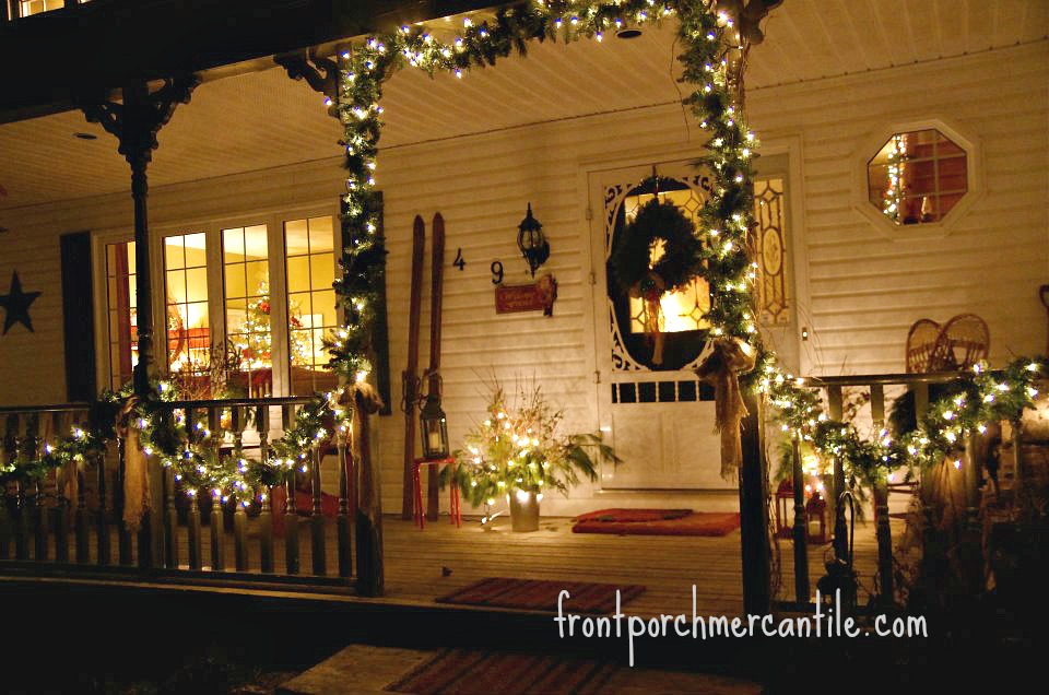 Christmas Porch at Front Porch Mercantile
