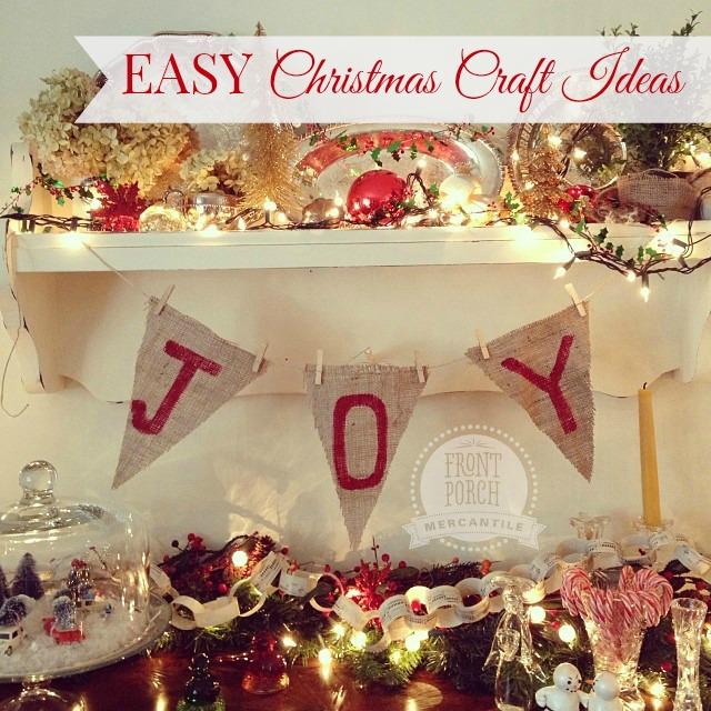 Easy Christmas DIY Ideas Front Porch Mercantile