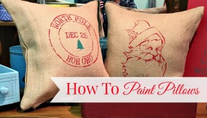How To Paint a Christmas Pillow