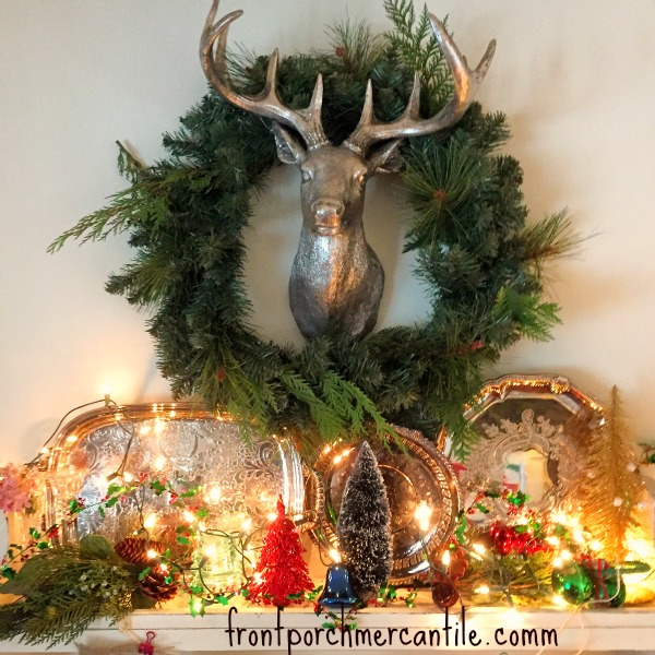 Stag Head for Christmas at Front Porch Mercantile