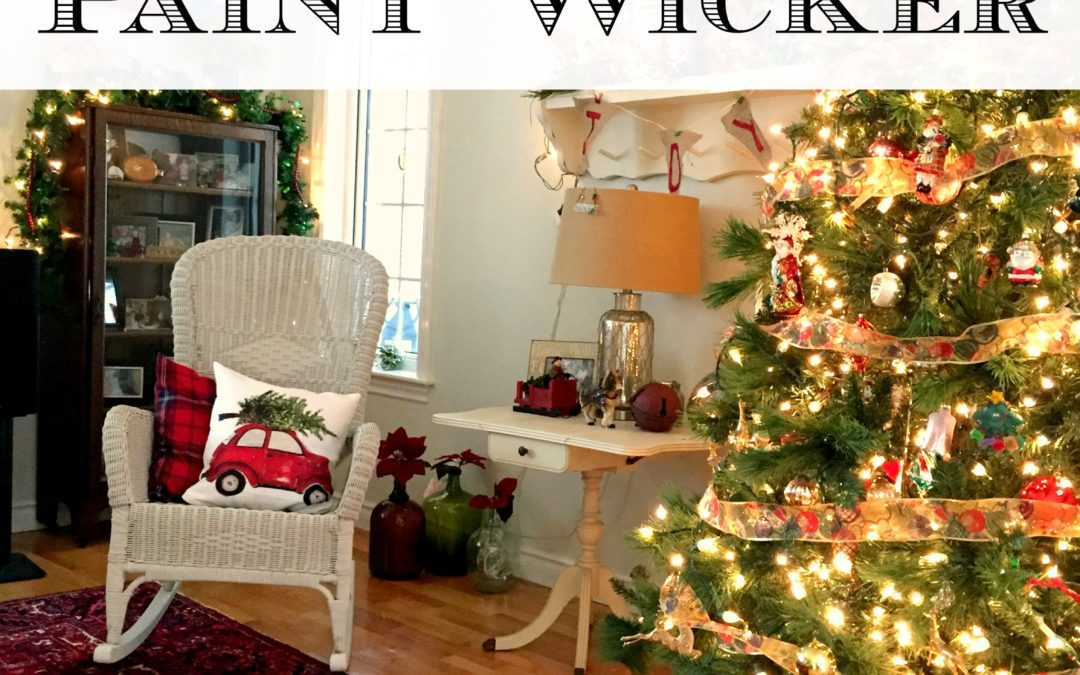 How to Easily Paint Wicker