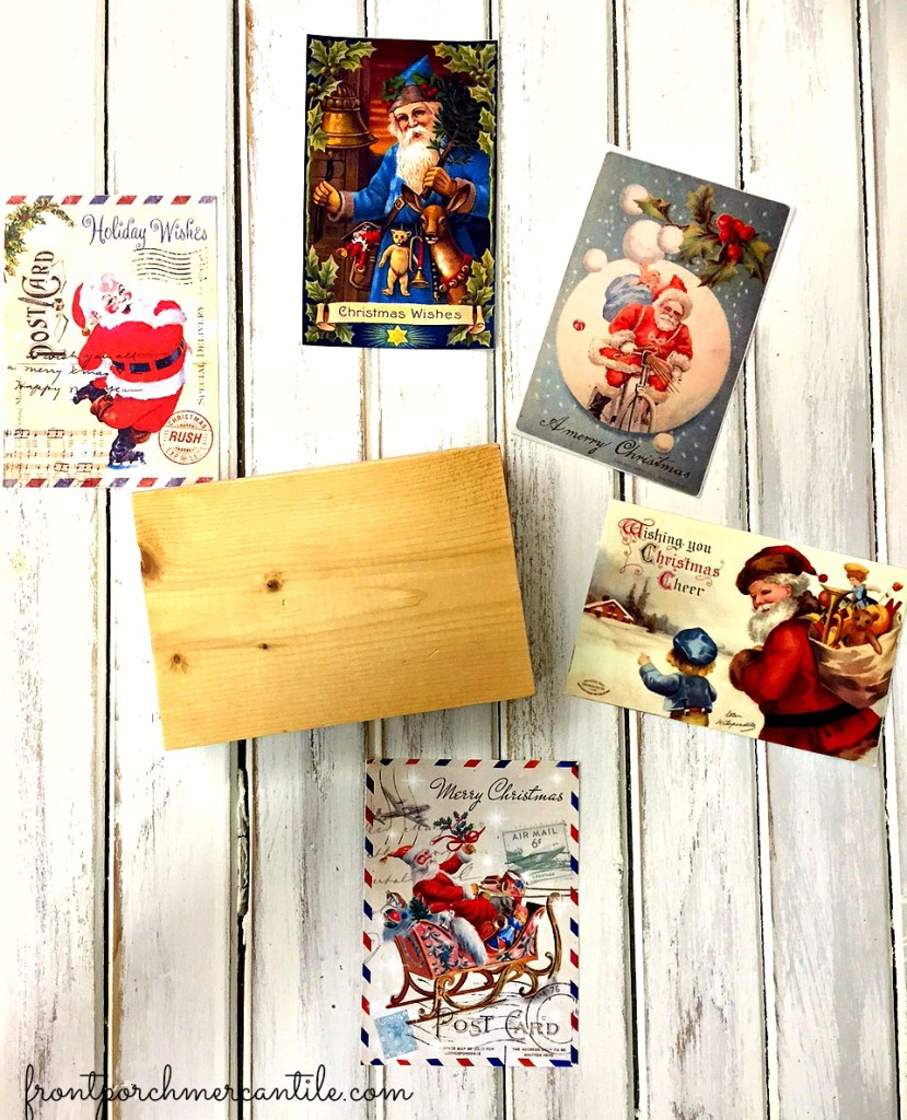 How To make vintage postcard blocks