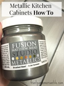 Metallic Kitchen Cabinet How To