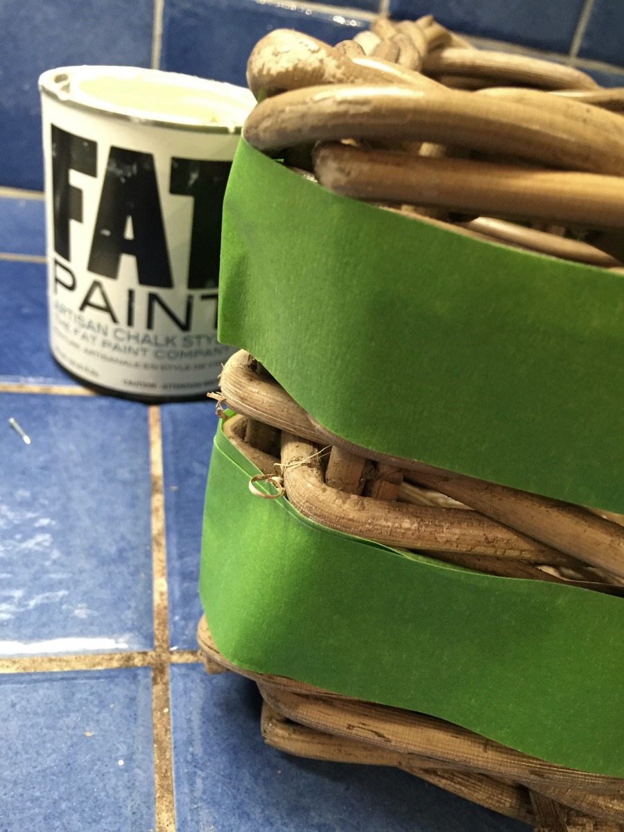 update a wicker basket with FAT Paint